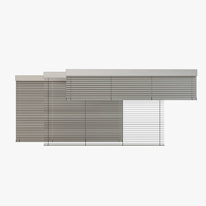 venetian blinds rails x model
