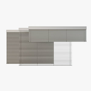 3D model venetian blinds rails x