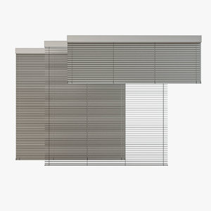 3D venetian blinds rails x model