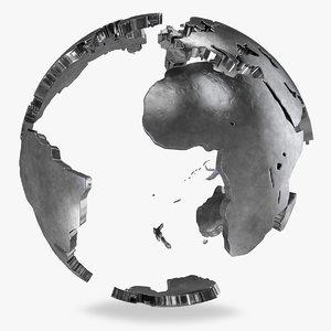earth globe v1 world 3D model