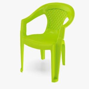 3D plastic chair v1 model