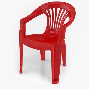 plastic chair v2 3D