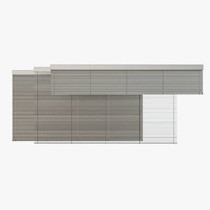 venetian blinds rails x 3D model