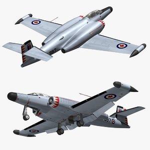 3D model avro canuck cf100