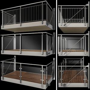3D metal balcony