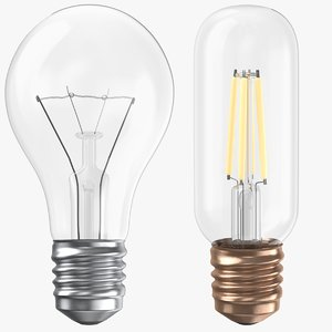 3D model real light bulbs