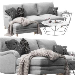 3D sofa miss daisy model