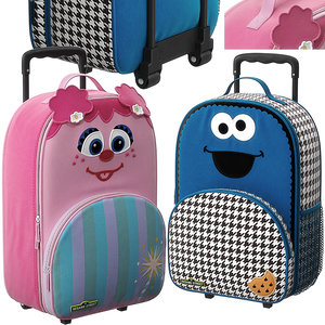 sesame street luggage 3D model