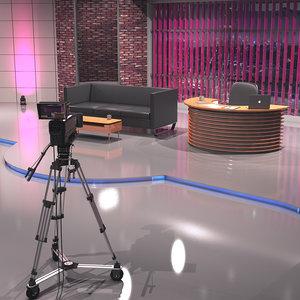 3D model studio interior