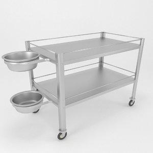 3D medical basins stand