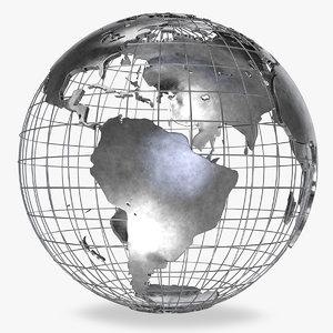 3D model earth globe v2