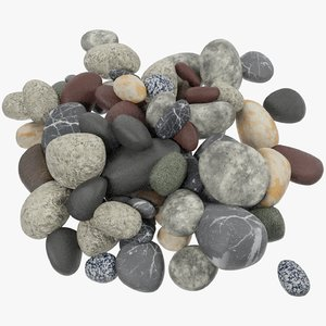 pebbles stones 3D model