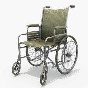 classic wheelchair 3D model