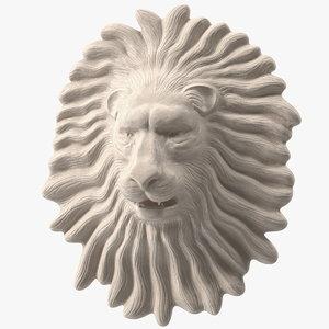 lion wall sculpture 3D