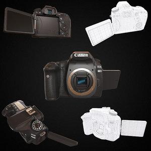 3D model canon eos 80d dslr
