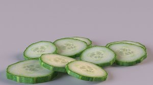 cucumber slice 3D model