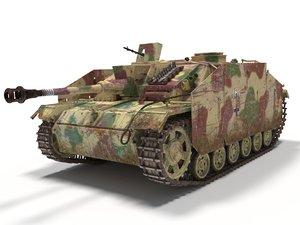 iii stug ausf g 3D model
