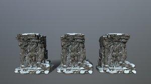 3D statue model