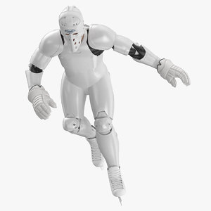 hummanoid hockey player pose 3D model