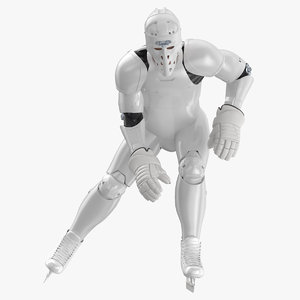 3D hummanoid hockey player pose model