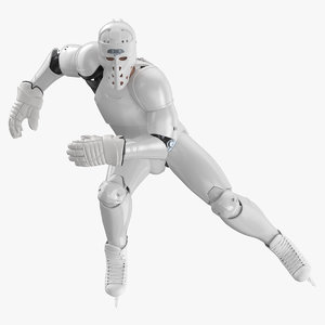 3D hummanoid hockey player pose