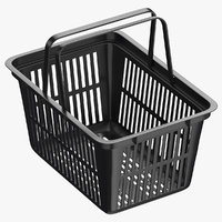 Plastic Shopping Crate 02 Black