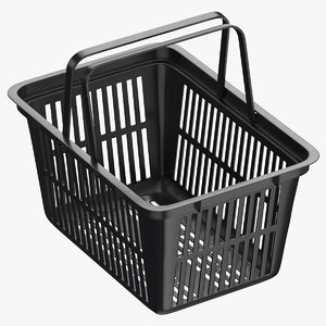 plastic shopping crate 02 3D