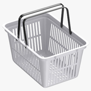plastic shopping crate 02 3D model
