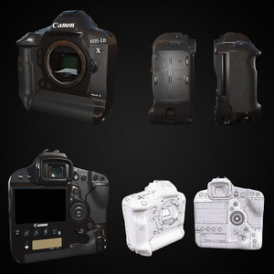 canon 1dx mark2 realistic 3D model