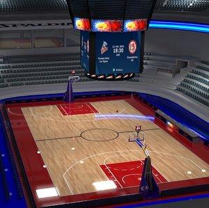 basketball stadium basket 3D model