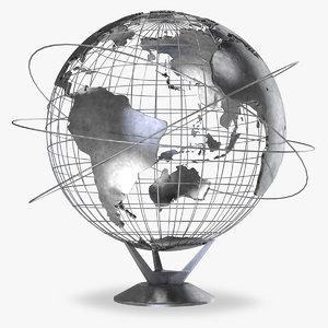 earth globe v3 world 3D model