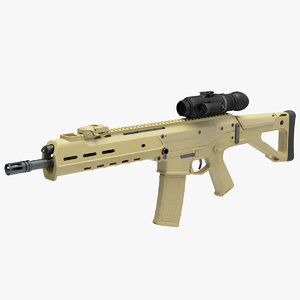3D combat rifle thermal ir