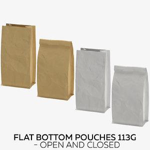 3D flat pouches 113g - model
