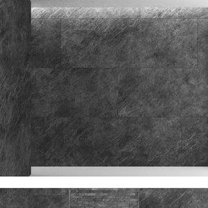 3D black slate