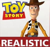 woody pixar toys story motion 3d model