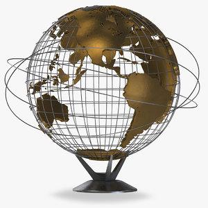 earth globe v4 3D model