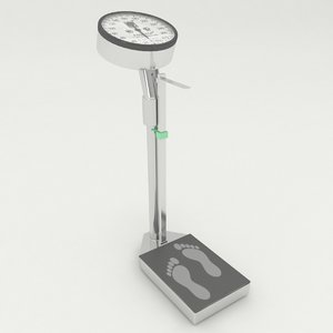 human weighing scale 3D model