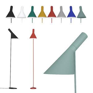 3D floor lamp aj louis poulsen
