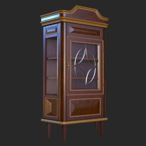 3D vintage furniture cupboard pbr