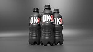 3D bottle adrenaline water