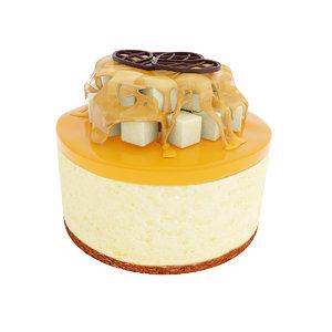 cake pear heart 3D model