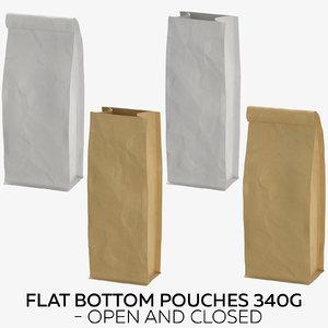 flat pouches 340g - model