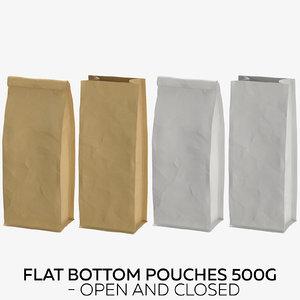 3D flat pouches 500g -