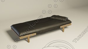 chaise loungers 3D model