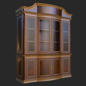 3D vintage furniture cabinet pbr
