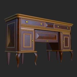 3D vintage furniture living room