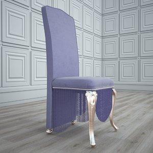 luxury chair 02 3D model