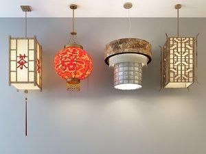 3D chinese hanging lantern