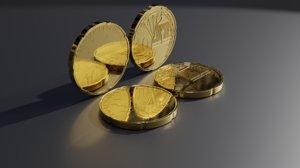 10 coin azerbaijan 3D model