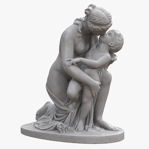 3D venus kiss cupid model